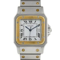 Cartier Santos Galbée en or et acier vers 1990