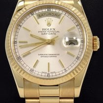 Rolex President Day-date 118238 18k Yellow Gold Stick Dial...