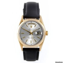 Ρολεξ (Rolex) Mens 18K Yellow Gold Day-Date President - Silver...