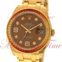 Rolex Datejust Pearlmaster 39mm, Cognac Diamond Dial ,...