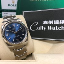 Rolex Cally - 114200 Oyster Perpetual Blue Arabic 369  藍底白369