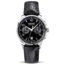Union Glashütte Noramis Chronograph schwarz Lederband