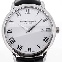 Raymond Weil Toccata 39 Black Leather Strap White Dial