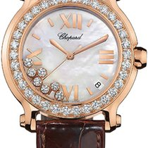 Chopard Happy Sport 36mm Gold Diamonds Pearl Lady