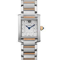 Cartier WE110005 Tank Francaise Mens Quartz in 2-Tone - On...