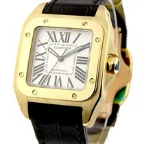 Cartier W20112Y1 Santos 100 in Yellow Gold Medium Size - On...