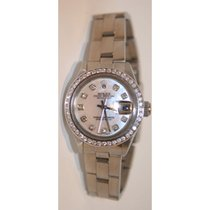 Rolex Datejust 69160 Ladies Stainless Steel Oyster Band Custom...