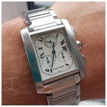 Cartier Tank Francaise chronoflex chronograph full set.