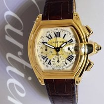 Cartier 2619 Roadster Chronograph 18k Yellow Gold Mens Watch...