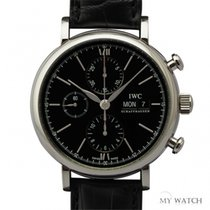 IWC Portofino Chronograph Black Dial  IW391008 (NEW)