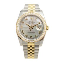 롤렉스 (Rolex) Datejust Gold Steel Diamond Silver Automatic 116243NR
