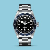 Tudor Heritage Black Bay blau Stahlband & Textilband -NEU-
