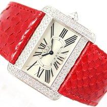 Cartier TANK DIVAN  2614 - 18CT WHITE GOLD & DIAMONDS