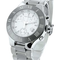 Cartier W10184U2 Must 21 Chronoscaph - Steel on Rubber Bracelet