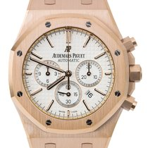 Audemars Piguet Royal Oak Chronograph Rose Gold Leather Strap...