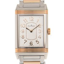 Jaeger-LeCoultre Reverso 18k Rose Gold And Steel Silvery White...