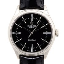 勞力士 (Rolex) Cellini Series 18k White Gold Black Automatic 50509BK