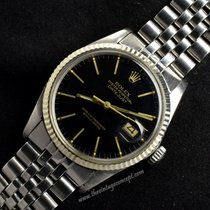 Rolex 16014 Datejust Black Gilt Dial w/ Jubilee bracelet