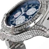 Breitling Mens Diamond Breitling Super Avenger Blue Dial...