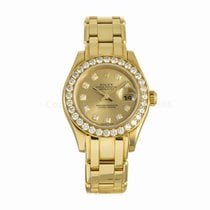 Rolex Datejust Pearlmaster Ladies Diamond 18K Yellow Gold...