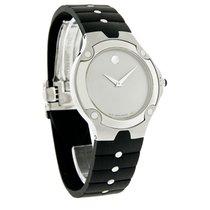 Movado S.E. Sports Edition Mens Black Rubber Strap Swiss Watch...