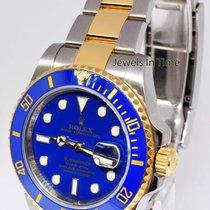 Rolex Submariner Date 18k Gold/Steel Blue Ceramic Watch &...