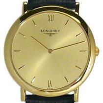 Longines Prestige 18K Gold Mens Strap Watch L4.710.6.35.2