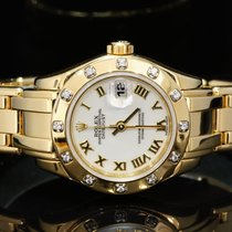 Rolex 1999 18ct Yellow Gold Lady-Datejust Pearlmaster, Box...