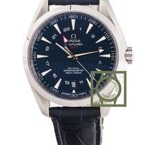 Omega Seamaster Aqua Terra 150m gmt blue dial leather