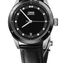 Oris Artix GT Date, Diamonds, Ceramic Top Ring, Leather