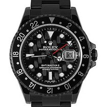 Rolex Used 16710_pvd Oyster Perpetual GMT II - Black DLC Steel...