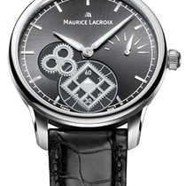Maurice Lacroix Masterpiece Square Wheel Seconds Crocodile Strap