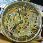 Omega Skeletonized Dragon Theme Customized Marriage Watch