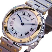 Cartier Santos Men Unisex 32mm 18k Gold and Steel Swiss Made