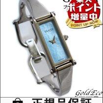 Gucci 【グッチ】バングルウォッチ レディース腕時計電池式 クォーツブルーシェル文字盤 アナログ2針 シルバー...