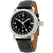 Longines Heritage Automatic Black Dial Stainless Steel...