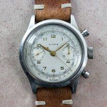 Cyma Vintage Clamshell Valjoux 22 Chronograph