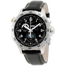 Hamilton Worldtimer Black Dial Chronograph Black Leather...