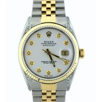 Rolex Datejust Men's 36mm White Dial Stainless Steel And...