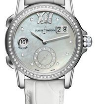 Ulysse Nardin CLASSIC DUAL TIME LADY Steel Dial Mother-of-pear...