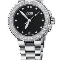 Oris Aquis Date Diamonds, 118 Diamond Set, Steel Bracelet