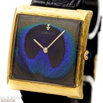 Corum Vintage Buckingham Peacock Dial 18k Yellow Gold Box...