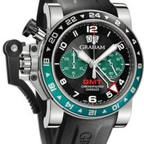 Graham Chronofighter Oversize GMT Steel 2OVGS.B12A.K10B