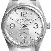 Bell & Ross BR 123 Vintage BRV 123 Officer Silver Bracelet