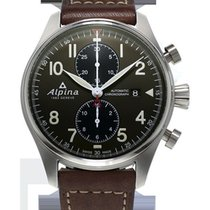 Alpina Startimer Pilot Chronograph Brown Leather
