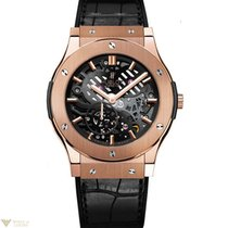 Hublot Classic Fusion Skeleton 18k Rose Gold Leather Automatic...