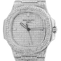 Patek Philippe 5711 Stainless Steel Full Diamond Set Custom Watch