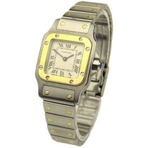 Cartier Lady Santos Galbee Quartz Steel & Gold 1057930