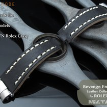 MiLTAT For Rolex Revenge End Link Black Pull-UP Leather Watch...