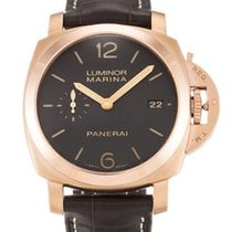 Πανερέ (Panerai) Luminor Marina 1950 3 days gold 42mm brown...